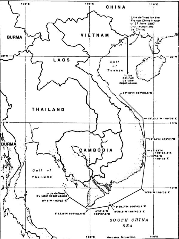 Figure 2: Đường cơ sở và nội thuỷ nước ta theo tuyên bố 11/12/1982
