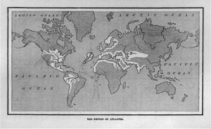 Bản đồ này chỉ ra vị trí của Atlantis