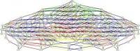 Đồ thị này miêu tả cấu trúc toán học tương tự như cấu trúc E8 nhưng nhỏ hơn rất nhiều so với E8. (Ảnh: David Vogan, MIT)