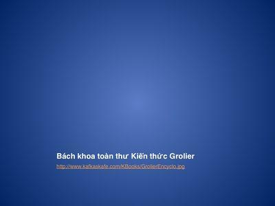 Bách khoa toàn thư Kiến thức Grolier